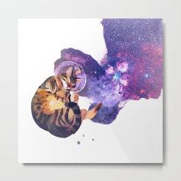 Catstronaut Metal Print
