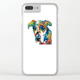 Colorful Great Dane Art Dog By Sharon Cummings Clear iPhone Case