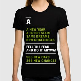 365 New Days New Changes Happy New Year 2020 January 1st Fireworks Resolution Holiday T-shirt Design T-shirt
