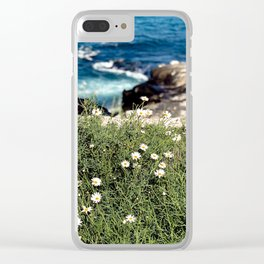 Wildflowers by the Ocean in La Jolla Clear iPhone Case