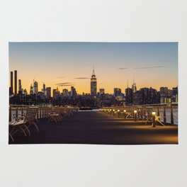 Sunset in New York City (Color) Rug