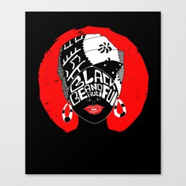 Black and Beautiful Canvas Print