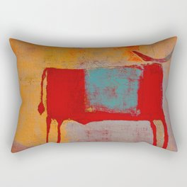 Toro Rojo Rectangular Pillow