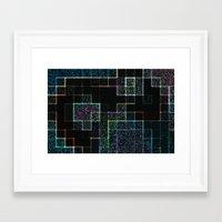 tetris Framed Art Prints featuring Tetris by Audrey Erickson