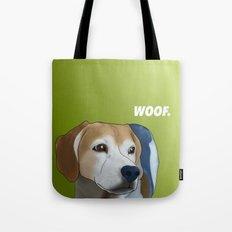 Woof. Tote Bag