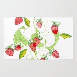 Patterned Strawberries Rug
