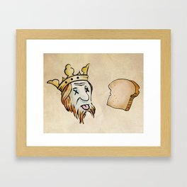 Obtuse Rebus With Regicide Framed Art Print