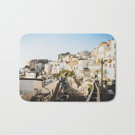 Afternoon in a white city Bath Mat