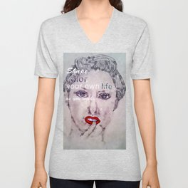 Shape and Color Your Own Life Unisex V-Neck