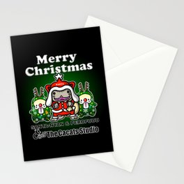 Merry-Chri Santa-nyan Stationery Cards