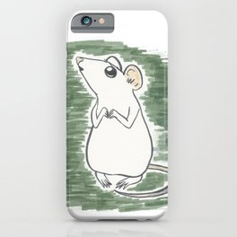 Squeak, the Tiny Inktober Mouse iPhone Case