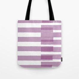 Big Stripes in Purple Tote Bag