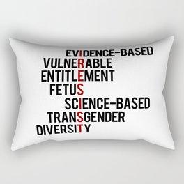 Donald Trump's seven banned words CDC: I RESIST 7 evidence-based vulnerable entitlement fetus Rectangular Pillow