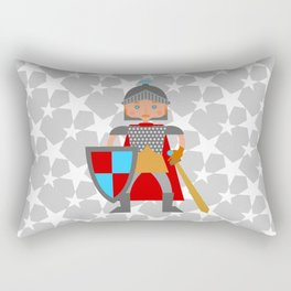 Brave medieval knight Rectangular Pillow