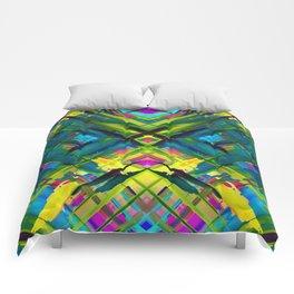 Colorful digital art splashing G467 Comforters