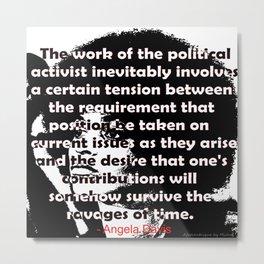 Angela Davis - The Political Activist Metal Print