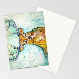 Deer in the Rain Stationery Cards