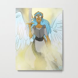 Fighter Angel Metal Print