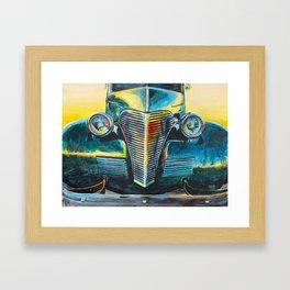 '38 Chevrolet Master Deluxe (Green roadster) Framed Art Print