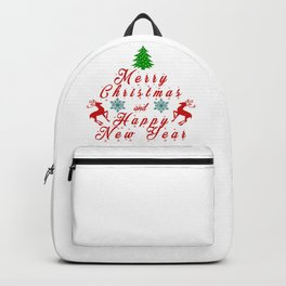Merry Christmas and Hapy New Year Backpack