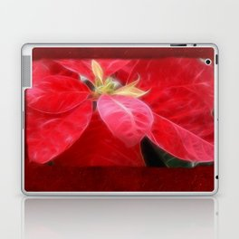 Mottled Red Poinsettia 2 Blank P5F0 Laptop & iPad Skin