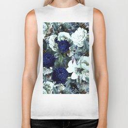 Vintage & Shabby Chic - Blue Winter Roses Biker Tank