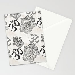 Hamsa Yoga Pattern Stationery Cards