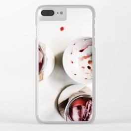 cherry pop Clear iPhone Case