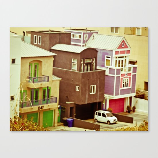 Colorful Condos Canvas Print