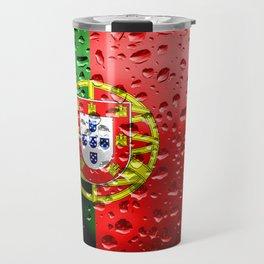 Flag of Portugal - Raindrops Travel Mug