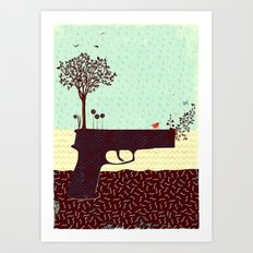 from bad seeds grows hope (part 3 of the 'guns' series) Art Print