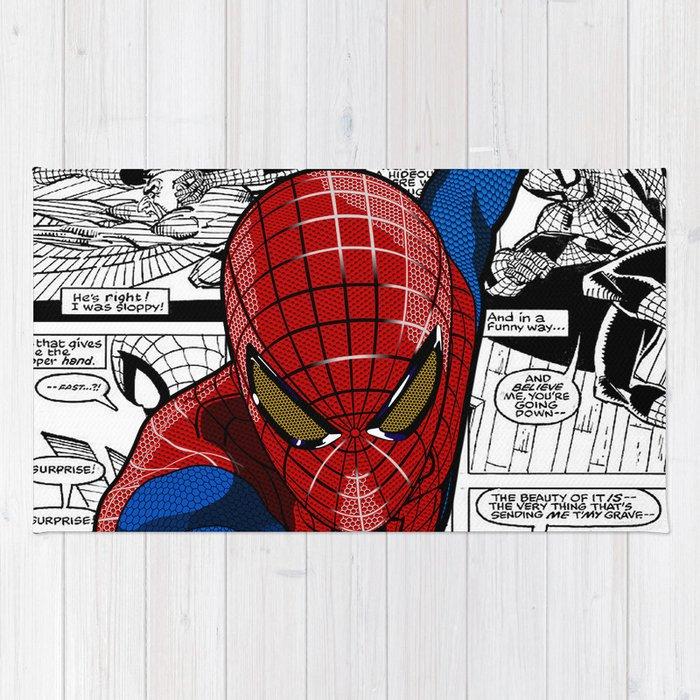 Spider-Man Comic Rug