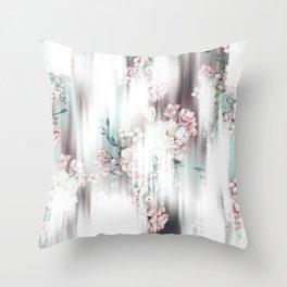 Soft Focus Blooms Throw Pillow