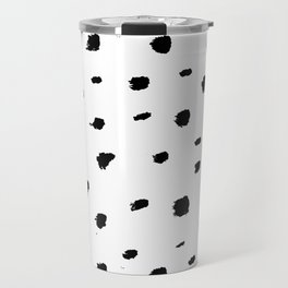 Ink Spots // Black-and-white abstract Travel Mug
