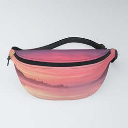 Beautiful Bright Colorful Sunrise Over Lake in The Boundary Waters Fanny Pack