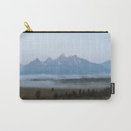 Fog Beneath the Grand Tetons Carry-All Pouch