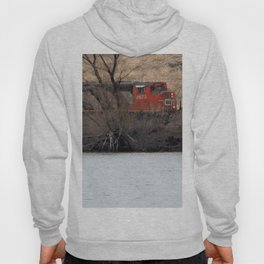 Train by River in late fall Hoody