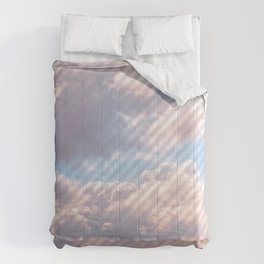 Light Gray Striped Clouds Comforters