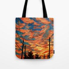 Street Meets Sky  Tote Bag