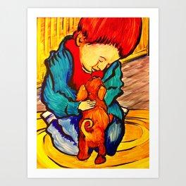 """Puppy Love"" Art Print"
