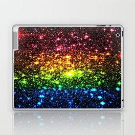 Rainbow Sparkle Galaxy Stars Laptop & iPad Skin