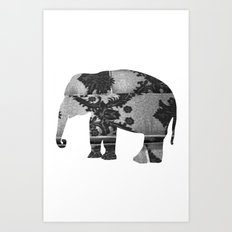 Elephant (The  Living Things Series)  Art Print