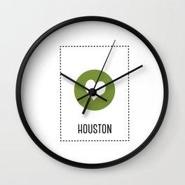 I Love Houston Wall Clock