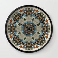 grace Wall Clocks featuring Grace by Mr. Pattern Man
