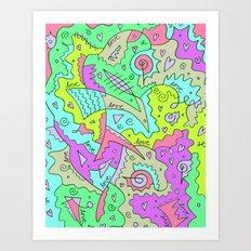 Love, Love, Love Art Print