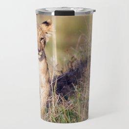 Young lion Travel Mug