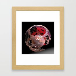 Pretty in Pink Cogs Framed Art Print