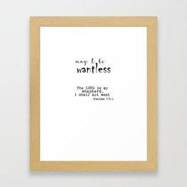 Wantless Framed Art Print