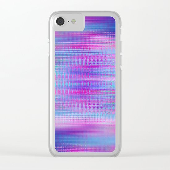 Distorted signal 02 Clear iPhone Case