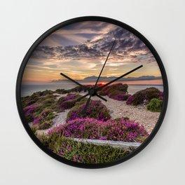 Headon Hill Sunset Isle Of Wight Wall Clock